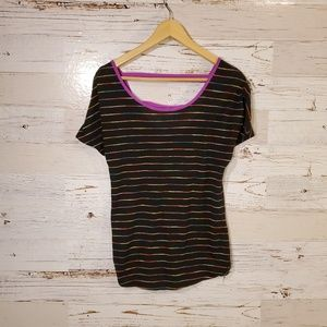 Maurices black stripe tee